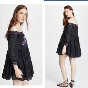 NWT Free People Sumbeams Minidress in black small